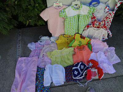 Vtg 1960s 60s Infant Baby Girl Clothing Lot Dress Gown Tie Top Romper 24 Pc