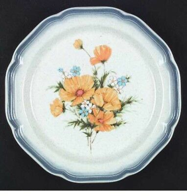 Mikasa Country Club CA503-Yellow Flowers Blue/Speckled-Dinner Plate.