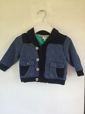 W26. Ted Baker Blue Thick Cardigan Boys Baby 12-18m