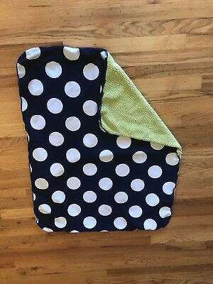 Circo Navy Blue Lime Green Dot Baby Blanket From target