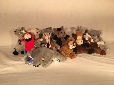 LOT OF 12 Coca-Cola & International Beanbag Plush Stuffed Animals Collection!!