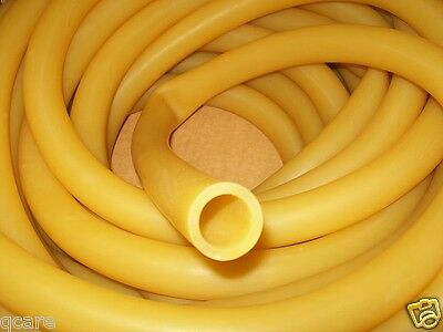 "10 Continuous feet 1"" I.D x 1/8"" wall Latex Rubber Tubing Amber Heavy Duty BIG"