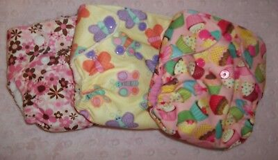 Newborn/XS AIO Cloth Diapers lot of 3
