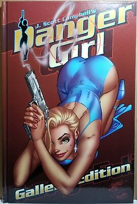 "Danger Girl: Gallery Edition ""RUBY RED"" Limited Exclusive Hardcover Ltd. to 500!"