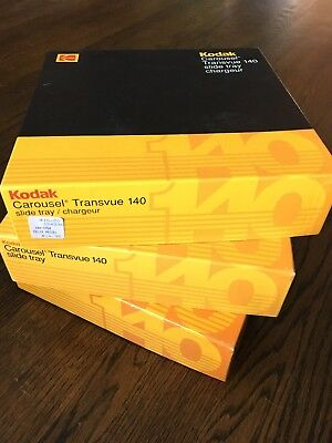 Lot Of 3 Kodak Carousel 140 Slide Trays In Boxes