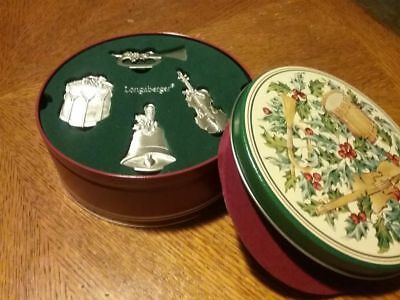 Longaberger Sounds of the Season Christmas Ornaments & Collectors Tin