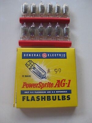 Box of 12 New Vintage General Electric PowerSprite AG-1 Flashbulbs