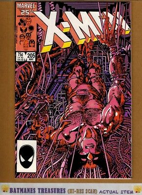 Uncanny X-Men #205 (9.4) NM Wolverine Cover 1986 Copper Age Key Issue