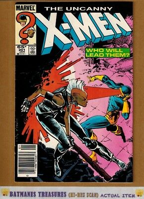 Uncanny X-Men #201 (8.5) VF+ 1st Cable Appearance 1986 Copper Age Key Issue