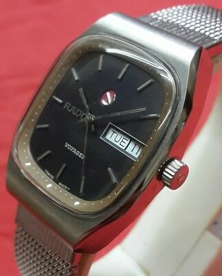 Vintage Rado Voyager Automatic Mens Day Date Swiss  Working Wrist Watch A1131