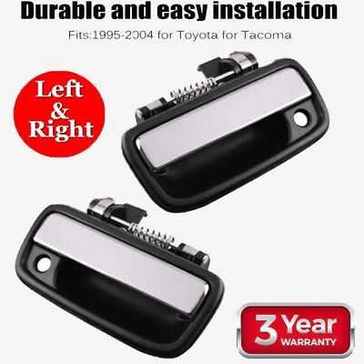 2x Chrome Exterior Front Left Right Door Handle Outside For 95-04 Toyota Tacoma