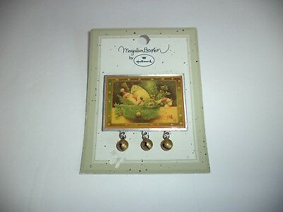 Vintage 1999 Hallmark Marjolein Bastin Christmas Pin With Jingle Bells New On Ca