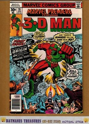 Marvel Premiere #35 (9.0) VF/NM 1st 3-D Man Appearance 1977 Bronze Age Key Issue