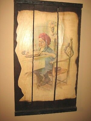 1923 Cream of Wheat Print Ad, Right Over The Home Plate, Wood Sign Brewer Art