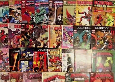 Lot of (30) Marvel DEADPOOL Comics with VARIANTS Too Soon #1-4 + Annual + #13 ++