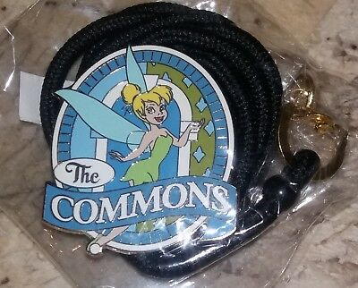 "DISNEY College Program Cast Member TINKERBELL "" The Commons "" Pin Lanyard NEW"