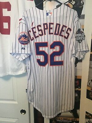 Authentic Majestic New York Mets Yoenis Cespedes World series Jersey Size 48 XL