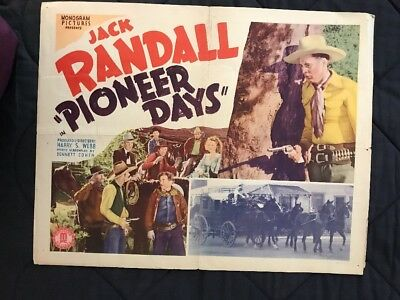 1940 Pioneer Days Movie Poster Half Sheet with JACK RANDALL