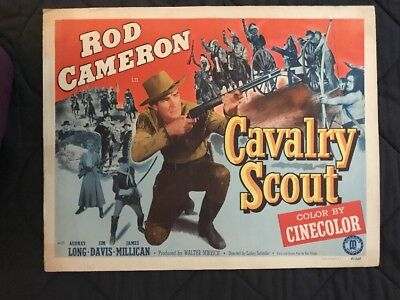 1951 Movie Calvary Scout Half Sheet Poster with ROD CAMERON