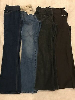 Lot Of Four Maternity Pants Sz 4/Small