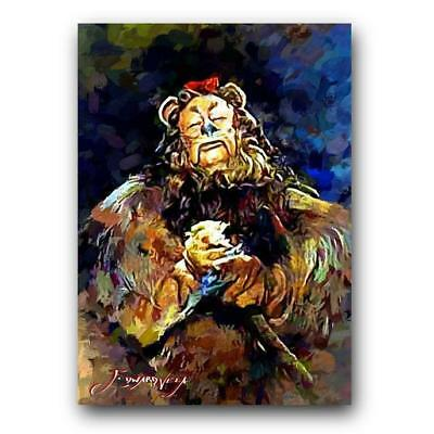 The Wizard of Oz Cowardly Lion #8 Sketch Card Limited 3/50 Edward Vela Signed