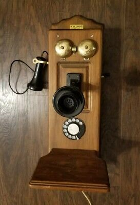 Kellogg Antique Hand Crank Telephone in Working Condition