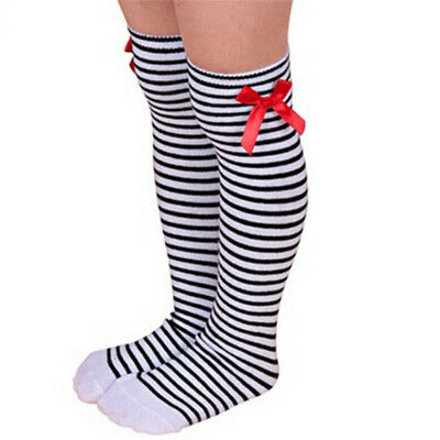 Baby Girls Mesh Knee High Long Stocking Soft Cotton Thin Bow Lace Tights Sock G