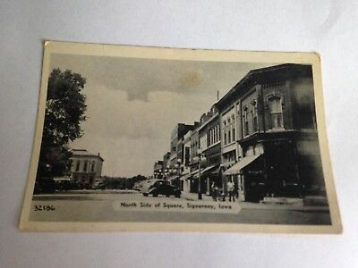 Sigourney Iowa IA (Keokuk County) North Side of Town Square Real Picture RPPC