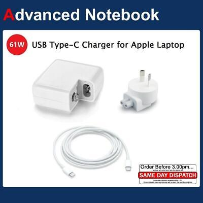 "61W for Apple MacBook Pro 13"" USB-C Type C A1718 A1706 A1708 AC Adapter Charger"