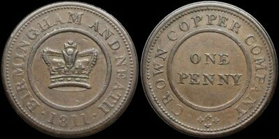 Great Britain. One Penny Token, Birmingham and Neath, 1811