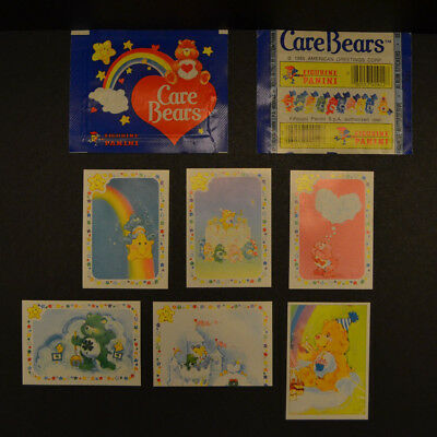 Vintage 1985 Care Bears Panini Sticker New American Greetings Package Stickers