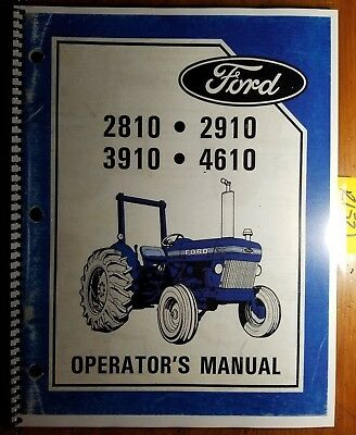 Ford 2810 2910 3910 4610 4610SU Tractor 1984-85 Owner Operator Manual SE4346A +S