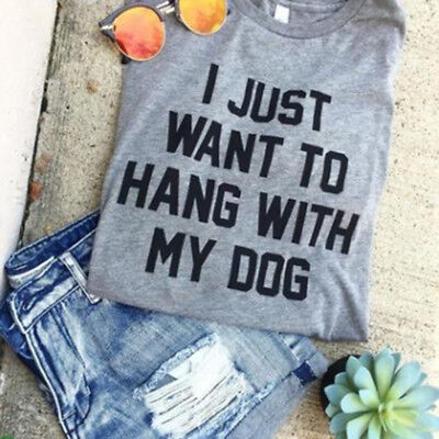 Women Funny T shirtLetters Printed Casual Summer Shirt G