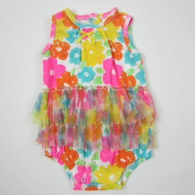 OFFSPRING 100/% Cotton White DAISY Print Romper w//Matching Hat GIRL SIZE 6M NWT