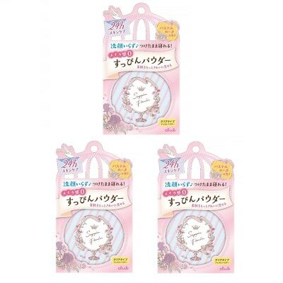 CLUB Cosme After Bath Suppin Powder pastel Rose scent 26g ×3 set with tracking