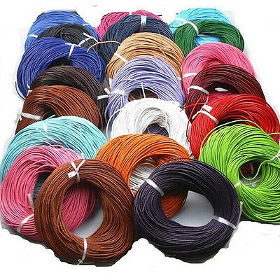 5M Leather Round Cord String Rope Thread Wire For Necklace DIY Jewelry Making