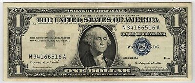 USA, 1957 A One Dollar, Silver Certificate (XF) #539