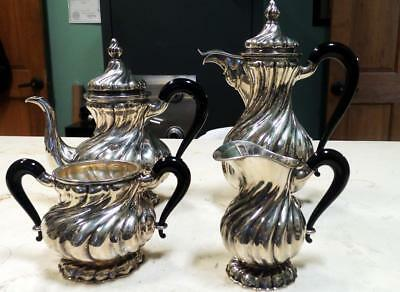 4 PC. NETHERLANDS COFFEE/TEA SET!! .835 SILVER  60toz!  PRICE REDUCED!!