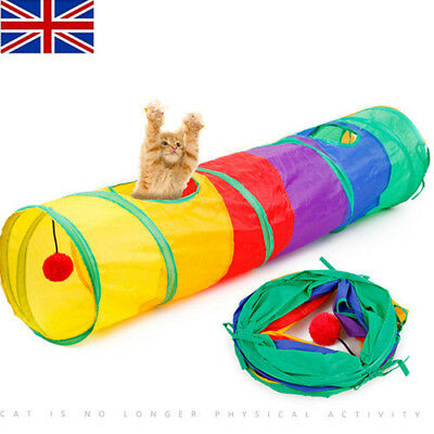 US Funny Tunnel Tent Agility Cat Training Folding Pet Agility For Training Play