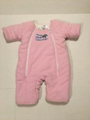 Merlin's Magic Sleep Suit Pink Size Large, 6-9 Months, 18-21 Lbs