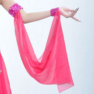 df0a4c6f2 1PC New Women Belly Dance Costume Chiffon Beads Armbands Arm Wear Accessory