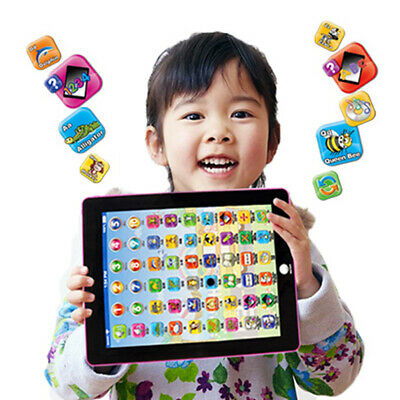 Tablet Pad Computer Learning English Educational Teach Toy Gift For Kid Children