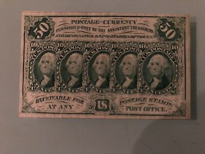 1862 Postal Fractional Currency 50c