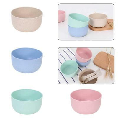 Healthy Wheat Straw Plastic Noodle Soup Bowl Rice Fruit for Kitchen Home