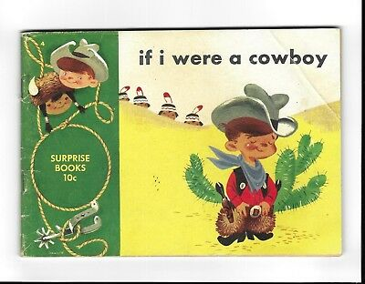 if i were a cowboy GOLDEN AGE DELL SURPRISE 10C COMIC BOOK Mel Crawford art 1950