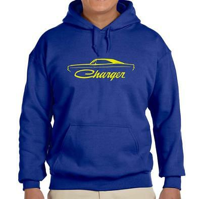 1968 1969 1970 Dodge Charger Royal Blue Hoodie Sweatshirt FREE SHIP