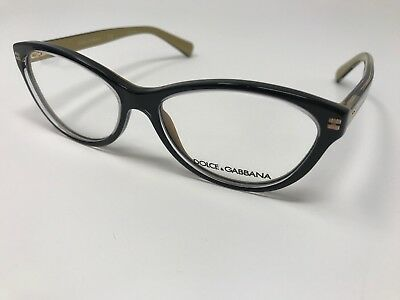 4466829e104d14 NEW DOLCE GABBANA DG3232 2955 Black   Gold Eyeglasses 53mm with Case ...