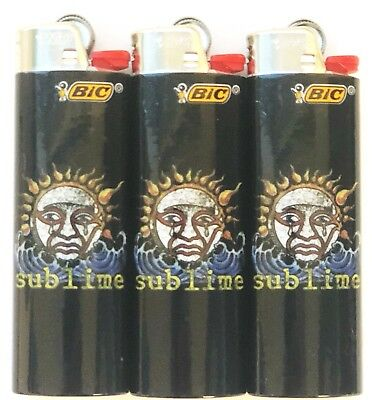Sublime Bic Lighters 3 Pack Limited Edition Collectors Gift Item