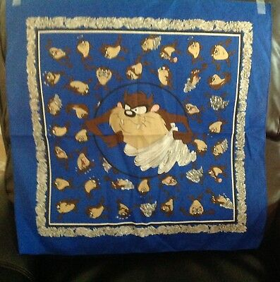 Looney Tunes Taz Tasmanian Devil Craft Fabric Bandana / Sewing Material