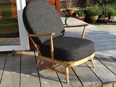 Cushions & Covers Only. Ercol 203 Chair. Charcoal Grey Stitch